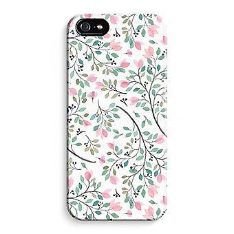 iPhone 5C koko Tulosta tapauksessa (kiiltävä) - hieno kukkia