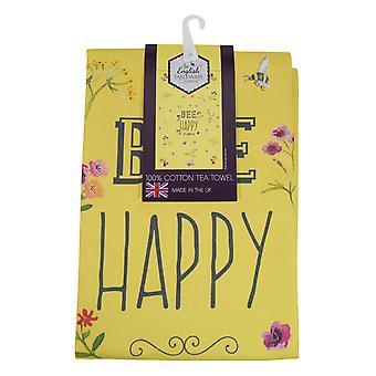 Engleză Tableware co. Bee Happy Tea prosop, galben
