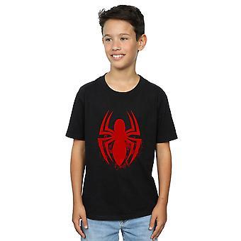 Marvel мальчиков-паук логотипа Эмблема футболку