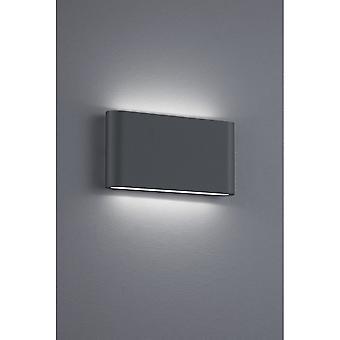 トリオ照明テムズ Ii 現代無煙炭ダイキャスト アルミニウム壁ランプ