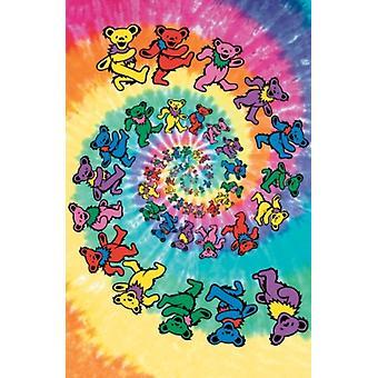 Dankbaar Dead-beren spiraal draagt 40 x 60 Poster Poster afdrukken