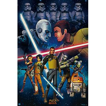 Star Wars ribelli duello Poster Poster Print
