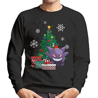 GENGAR rund um den Weihnachtsbaum Herren Sweatshirt