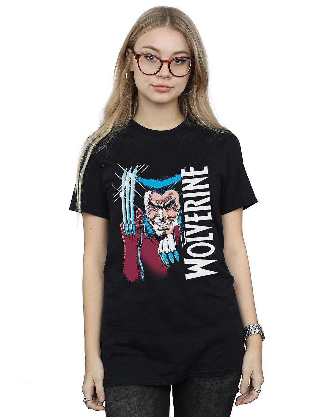 Marvel Women's X-Men Wolverine Come Here Boyfriend Fit T-Shirt