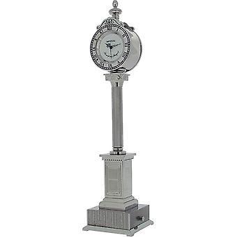 Cadeau tijd producten Street Post bureauklok - zilver
