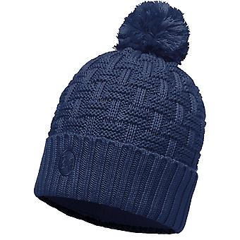 Buff Airon Knitted Bobble Hat in Dark Denim