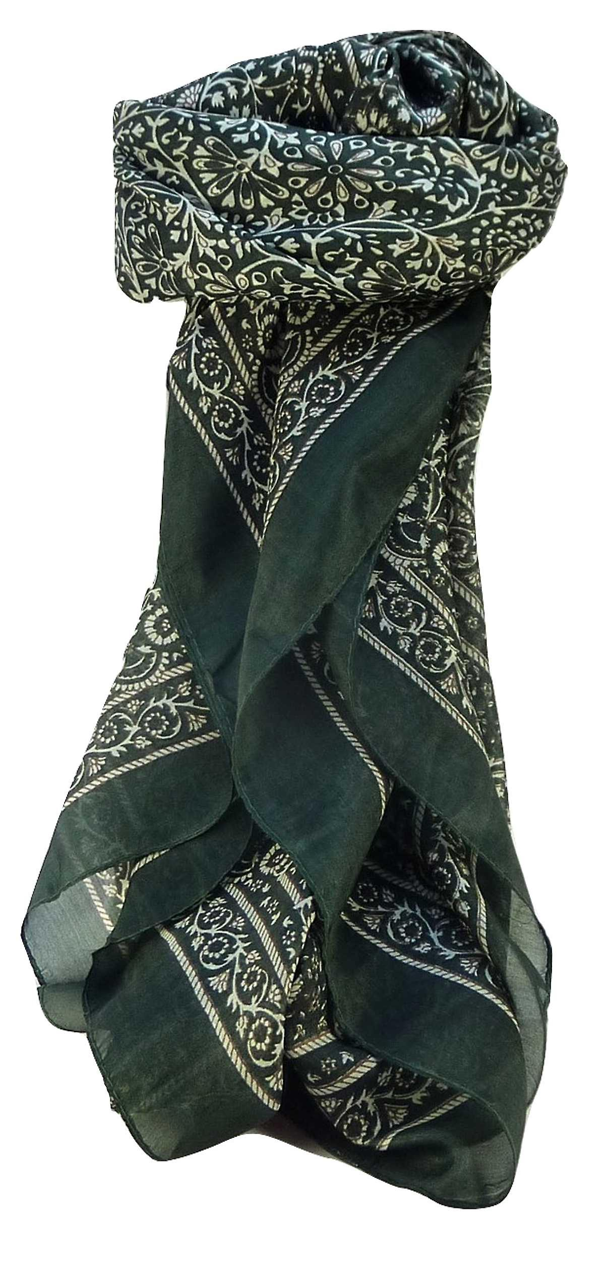 Mulberry Silk Contemporary Square Scarf Floral F214 by Pashmina & Silk