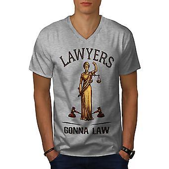 Anwälte gehen zu Gesetz Männer GreyV-Neck T-Shirt | Wellcoda