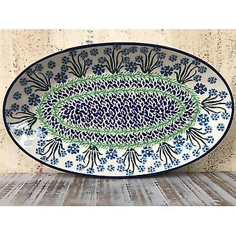Plate, oval, 45.5 x 27 cm, forget me not, BSN J-1925