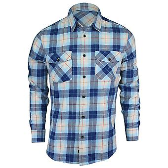 Quiksilver Herren Waterman Kollektion Wade Creek-Langarm-Shirt - Rost blau