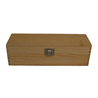 Single Bottle Clear Varnish Wooden Box