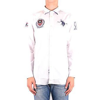 U.s. Polo Assn. Ezbc195002 Men's White Cotton Shirt