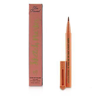 Sketch Marker Liquid Art Eyeliner - # Papaya Peach - 0.45ml/0.015oz
