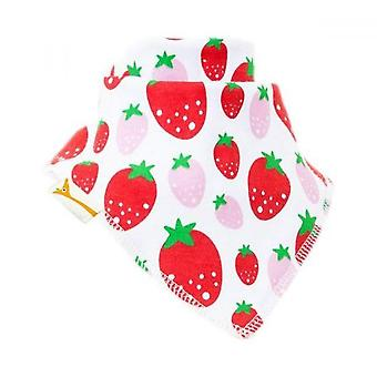 Blanc avec bavoir bandana rouge & rose strawberrys