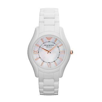 Emporio Armani Ar1473 senhoras branco Ceramica Watch