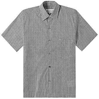 Maison Margiela Patterned Short Sleeve Shirt Grey