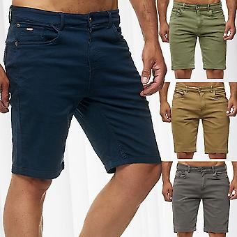 Men's Chino Shorts Casual Pants Bermuda Trousers Stretch Jeans Pants W28 W38