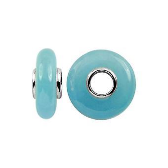 Storywheels الفضة & Dyed الأزرق اليشم سحر S353BUB
