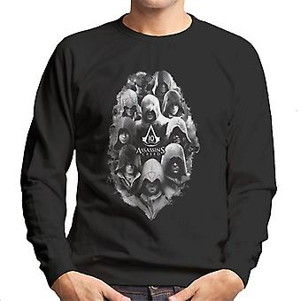 Assassins Creed 10 Years Of Characters Men's Sweatshirt