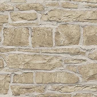 Arthouse Kościół kamień wzór Tapety faux teksturowane Brick Effect 697100