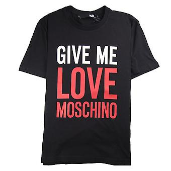 Love Moschino Give Me Love T-Shirt Black