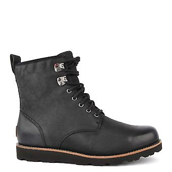 UGG Men's Hannen Black Leather Tall Boot