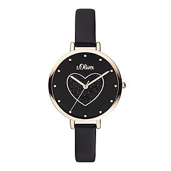 s. Oliver Quartz naisten analoginen kello SO-3833-LQ nahkavyö