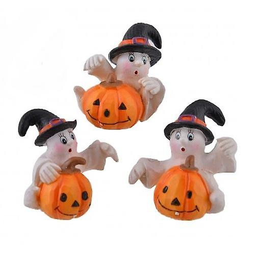 Ghost and Pumpkin Set of Three