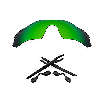 SeekOptics Replacement Lenses Accessories Kit for Oakley Radar EV Path Polarized Green & Black UV400