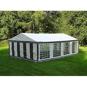 Tente de réception PLUS 4x8m PE, Gris/Blanc