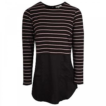 Thought Striped Tunic Style Long Sleeve Top