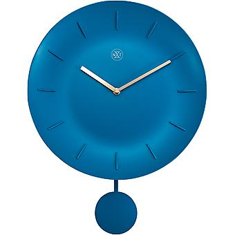 nXt - Wall clock - Ø 30 cm - Plastic - Turquoise - 'Bowl'