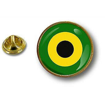 pine pine pine badge pin-apos;s metal button flag cockroach air Jamaican military force