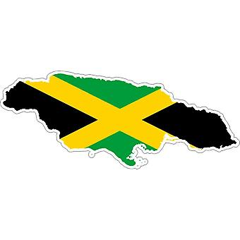 Sticker Sticker Adhesif Vinyl Car Flag Card Jamaica