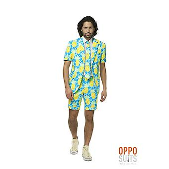 Shineapple Pineapple Tropical Suit Summersuit Suit Slimline Men's 3-piece Premium