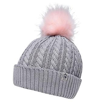 Requisite Womens Ladies Cable Knit Pompom Winter Bobble Hat
