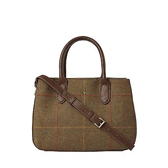 Joules Thernwell Tweed Apuca Bag - Brown Tweed