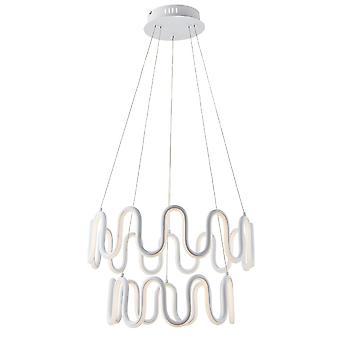 Endon Cern LED Anhänger Licht strukturiert weiß & weiß Silikon 81894