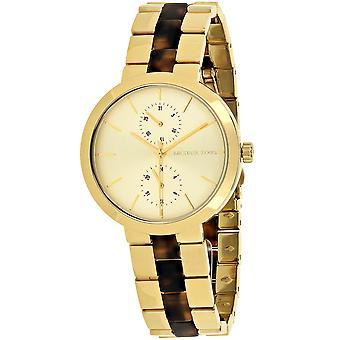 Michael Kors Mujeres's Garner Gold Dial Watch - MK6471