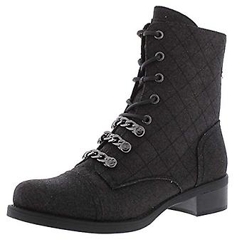 G By Guess Womens Meera Glitter Lace Up Combat Boots