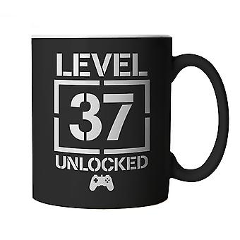 Level 37 Unlocked Video Game Birthday, Mug | Age Related Year Birthday Novelty Gift Present | 60s 70s 80s 90s Dad Grandad Son Mum Daughter | Gaming Cup Gift