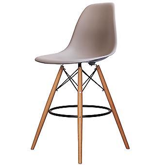 Charles Eames stile grigio grigio plastica bar sgabello