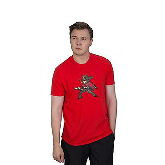 Overwatch McCree Pixel T-Shirt Unisex Small Red (TS002OW-S)