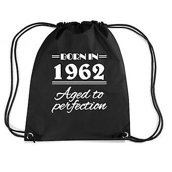 Black backpack dec0225 born in962 aged to perfection