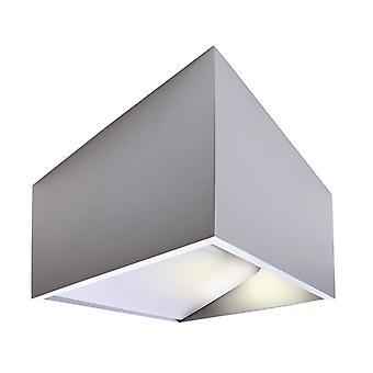 Lampe à LED murale Dado 5W 3000 K IP20 incl. alimentation d'alimentation en aluminium mat argenté