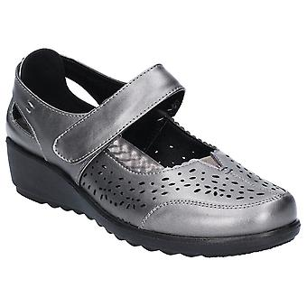 Caravelle Womens Penrith Bar Shoe Pewter