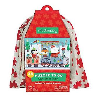 Christmas Train Puzzle to Go by Sarah McMenemy & By artist Jannie Ho