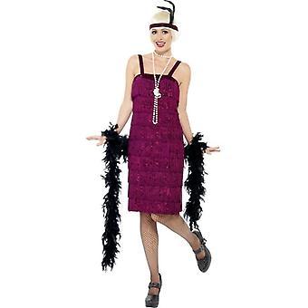 Jazz Flapper kostuum, UK jurk 16-18