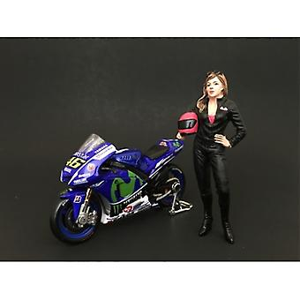Weibliche Biker Figur für 1:24 Maßstab Modelle von American Diorama