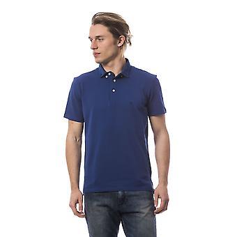 Polo short sleeves Blue Bagutta men